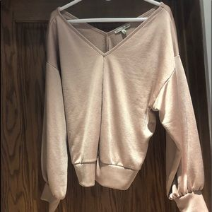 Blush Color Dressy Sweatshirt